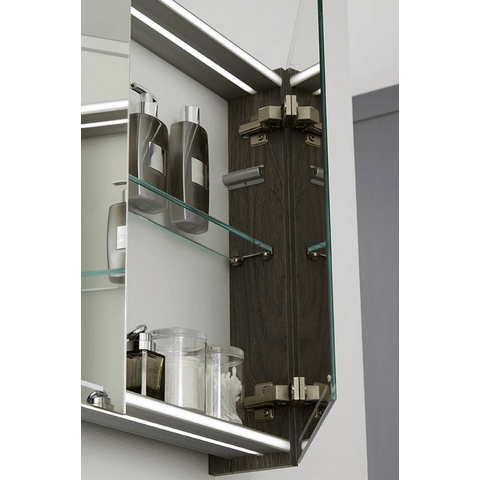 Thebalux Deluxe spiegelkast - 130x70cm - wit hoogglans lak