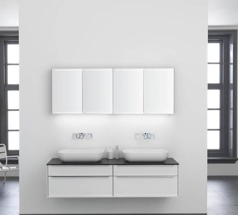 Thebalux Deluxe spiegelkast - 130x70cm - zijdeglans wit