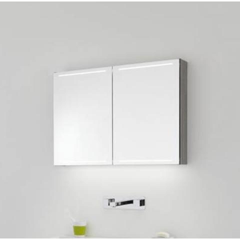 Thebalux Deluxe spiegelkast - 140x70cm - antraciet mat lak