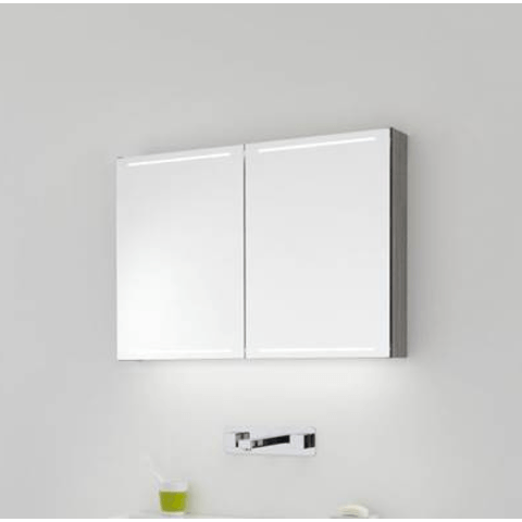 Thebalux Deluxe spiegelkast - 140x70cm - cubanit grijs