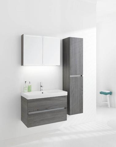 Thebalux Deluxe spiegelkast - 150x70cm - cubanit grijs