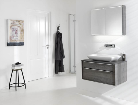 Thebalux Deluxe spiegelkast - 150x70cm - essen grijs