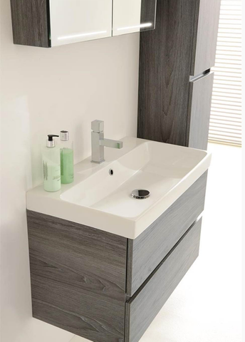 Thebalux Deluxe spiegelkast - 150x70cm - wit glans