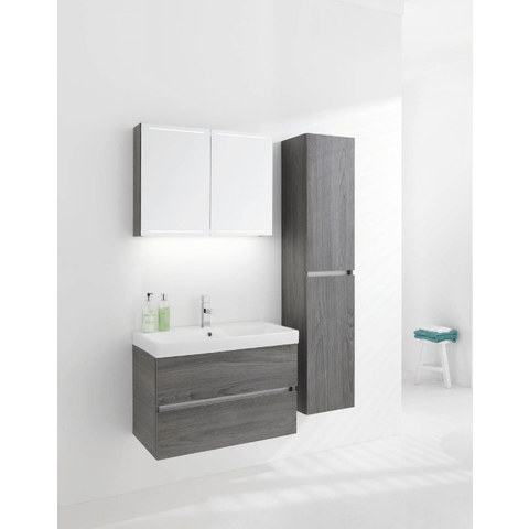 Thebalux Deluxe spiegelkast - 150x70cm - wit hoogglans