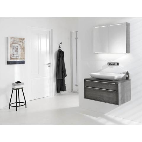 Thebalux Deluxe spiegelkast - 150x70cm - wit hoogglans lak