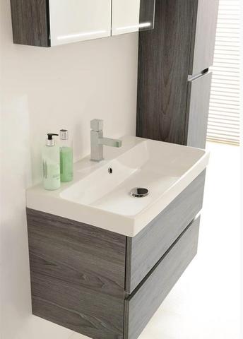 Thebalux Deluxe spiegelkast - 60x60cm - essen grijs