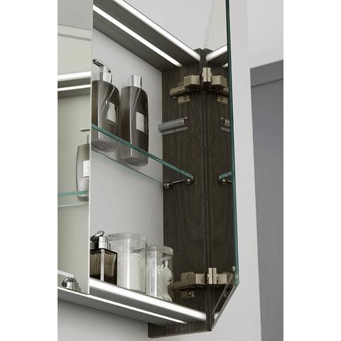 Thebalux Deluxe spiegelkast - 60x70cm - nebraska eiken - linksdraaiend