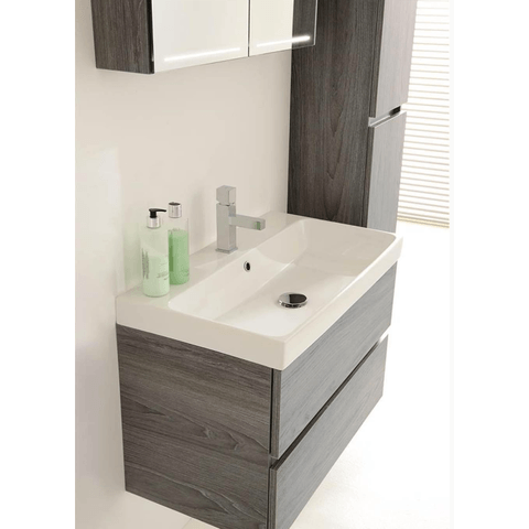 Thebalux Deluxe spiegelkast - 80x70cm - wit hoogglans lak