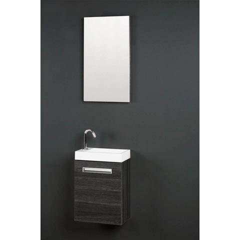 Thebalux Global fonteinmeubel - rechts - cape elm - spiegel met LED lichtbaan