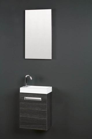 Thebalux Global fonteinmeubel - rechts - eiken antraciet - zonder spiegel