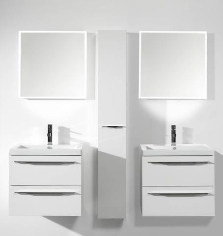 Thebalux Square LED spiegel 130cm met spiegelverwarming