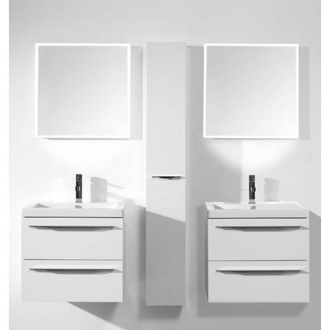 Thebalux Square LED spiegel 140cm met spiegelverwarming