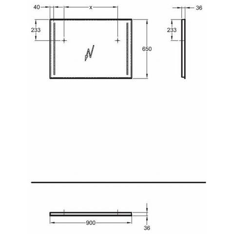 Geberit Option spiegel met led verlichting 90x65cm