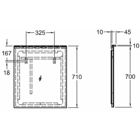 Geberit Xeno2 spiegel indirecte led-verlichting+verwarming 60cm