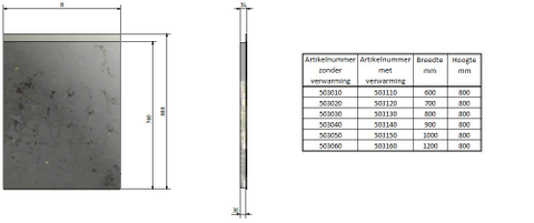 Blinq Nelid spiegel 60x80 bovenbaan indirecte led+sensor