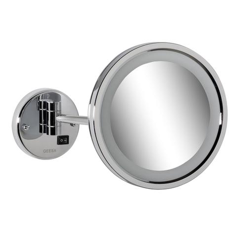 Geesa Cosmetic Collection scheerspiegel rond 21,5 cm met LED verlichting chroom
