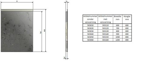 Blinq Nelid spiegel 90x80 bovenbaan indirecte led+sensor