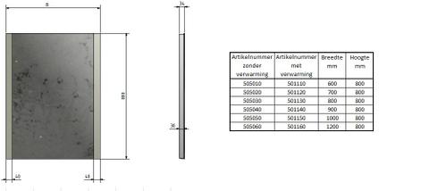 Blinq Nelid spiegel 90x80 li+re.led verlichting m/sensor