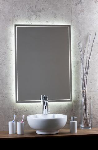 Blinq Nelid spiegel 70x80 decorlijn rondom-indirecte led verl.