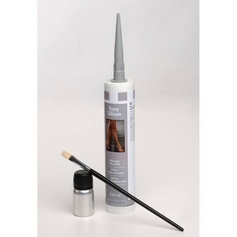 Easydrain  easy silicon afdichting 290ml. rvs kleur