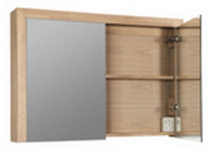 Bewonen spiegelkast Natural Wood 100 grey oak