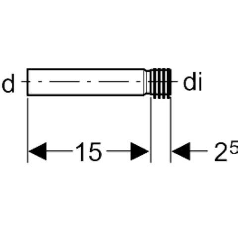 Geberit  urinoir inloopgarnituur