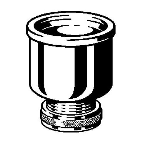 """Viega  urinoirkelk met koppeling 1 1/2"""" x 65/37 chroom"""