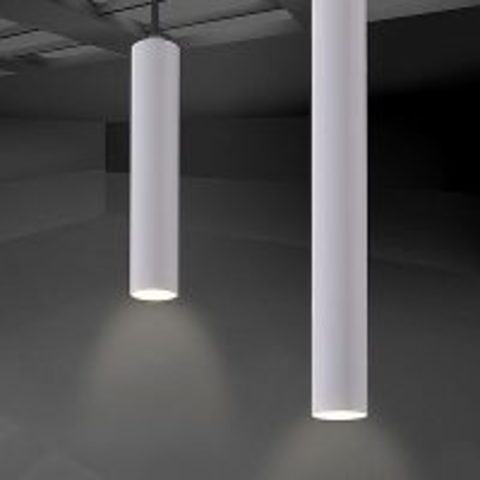 Looox Light Collection set badkamer hanglampen LED van 25 & 40 cm mat wit