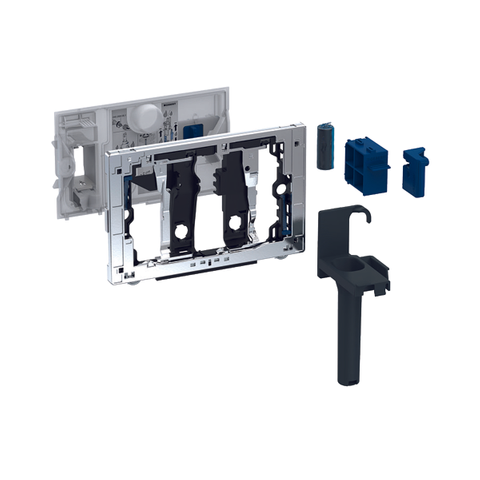 Geberit Duofresh toiletstickhouder - zonder geurzuivering - voor Duofix 12cm - chroom
