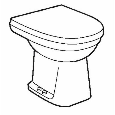 Sphinx 300 Comfort staande toilet PK 6cm verhoogd vlakspoel
