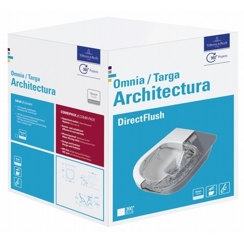 Villeroy & Boch Architectura wandcloset DirectFlush met zitting SC + QR