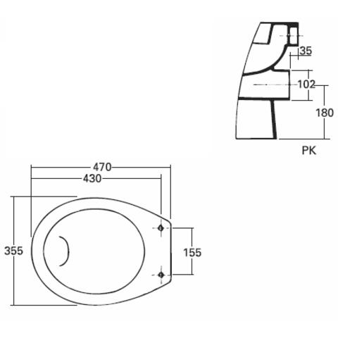 Sphinx 280 staande toilet PK