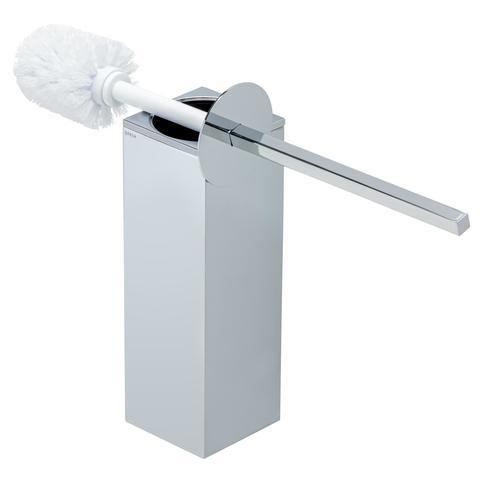 Geesa Modern art closetborstelhouder met witte borstel chroom