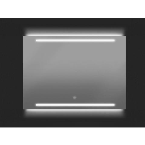 Thebalux Line LED spiegel 130cm (55cm hoog) met spiegelverwarming