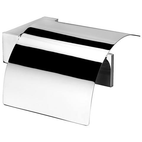 Geesa Modern art closetrolhouder met klep chroom