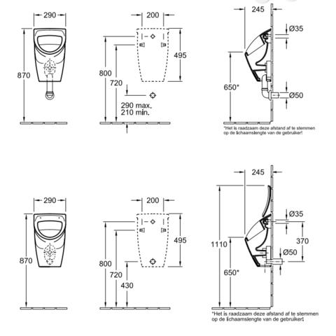 Villeroy & Boch O.novo urinoir