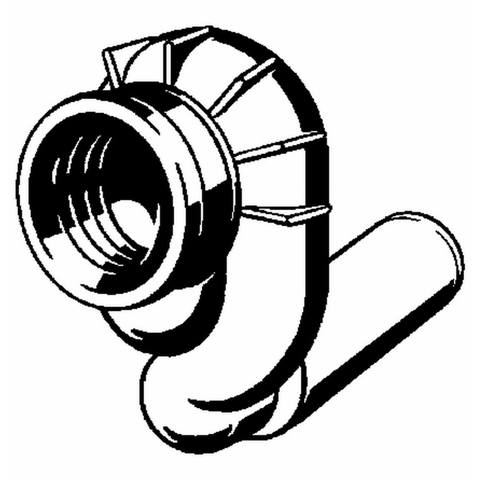 Viega urinoirafvoersifon horizontaal afvoer=50mm.
