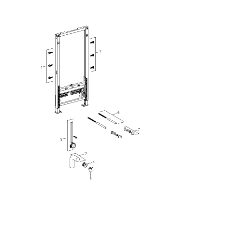 Geberit Duofix bidet element 112 cm. hoog