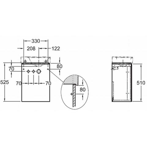 Geberit Xeno2 fonteinonderkast met deur 38cm deur greige greige