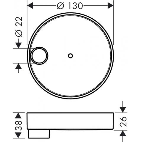 Hansgrohe Cassetta zeepschaal voor puro glijstang chroom