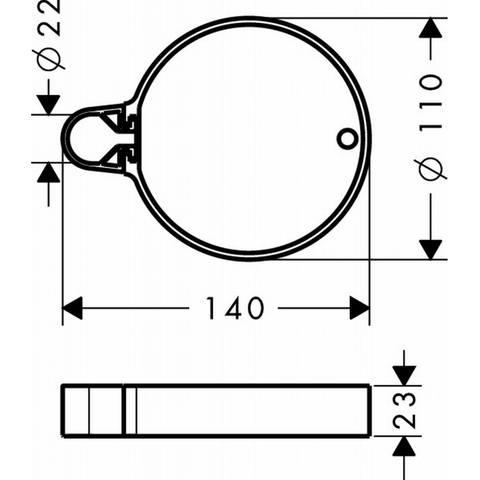 Hansgrohe Cassetta zeepschaal chroom