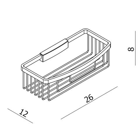 Blinq El paso spons-zeephouder diep met verdekte bevestiging chroom