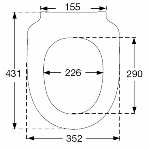 Pressalit 300+ closetzitting met deksel met topmontage wit