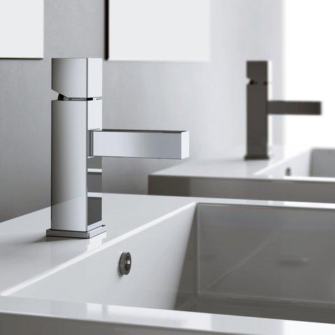 Hotbath Bloke Q003 wastafelmengkraan zonder waste chroom