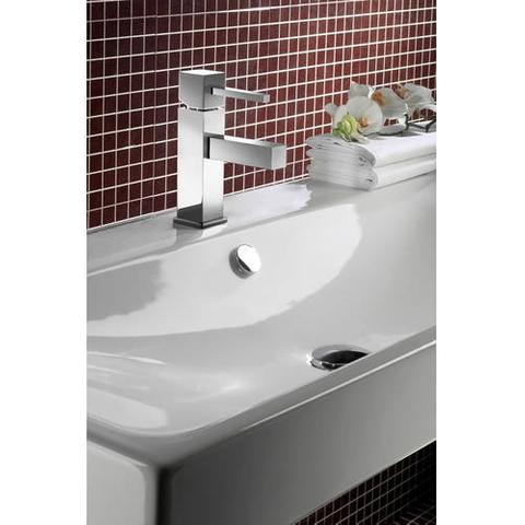 Hotbath Bloke Q003S wastafelmengkraan zonder waste met stickhendel geborsteld nikkel