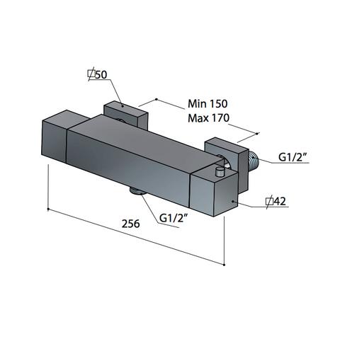 Hotbath Bloke Q008 douchethermostaat geborsteld nikkel