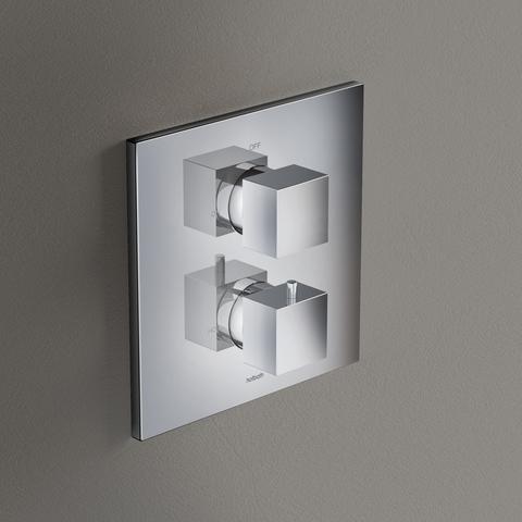 Hotbath Bloke Q009 inbouw douchethermostaat met 2-weg stop-omstel chroom