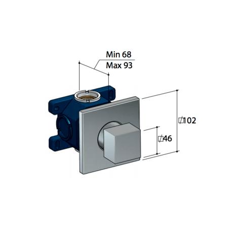Hotbath Bloke Q010 stopkraan geborsteld nikkel