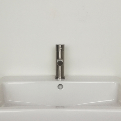 Hotbath Buddy B003 wastafelkraan geborsteld nikkel