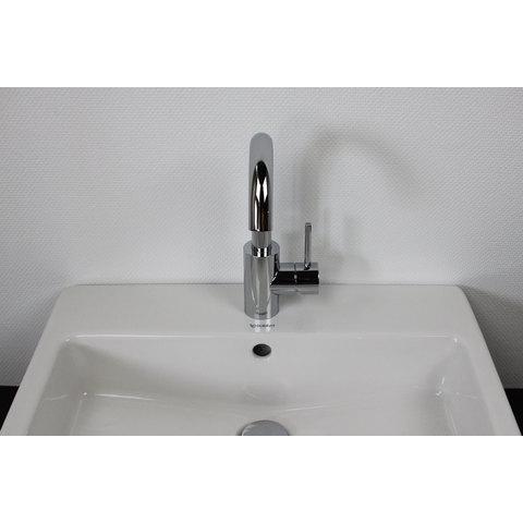 Hotbath Buddy B004 wastafelmengkraan met draaibare uitloop zonder waste chroom